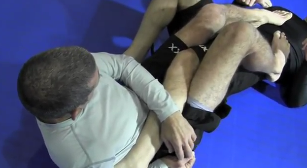 MMA Heel Hook Submission