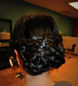 braided bun - simply chic salon