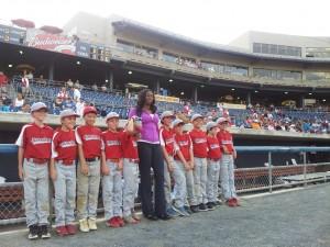 francena mccorory with baseball team