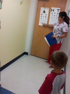ethan eye checkup