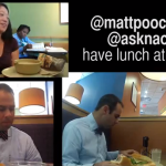 @mattpooch and @asknaoma have lunch at Panera
