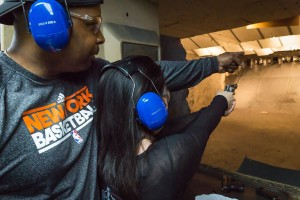 naoma shooting a 22 revolver