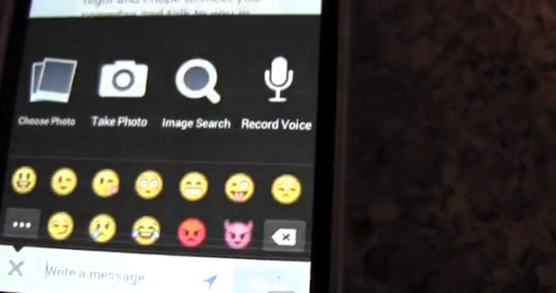 facebook voice recording