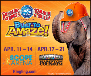 ringling brothers, circus, norfolk scope