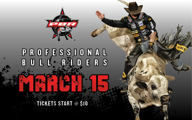 professional bull riders at the hampton coliseu