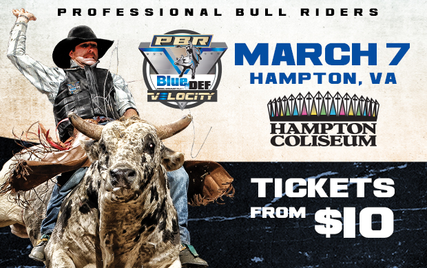 Ticket Giveaway – Professional Bull Riders at Hampton Coliseum