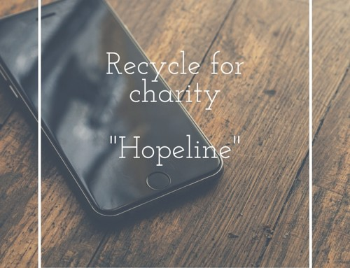 Recycling for charity – Hopeline