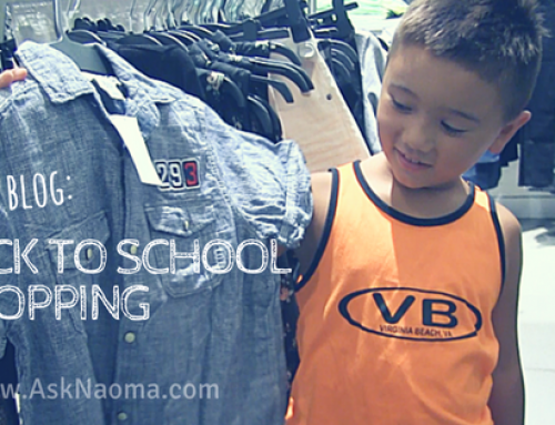 Summer is almost over!  It's back to school shopping time!