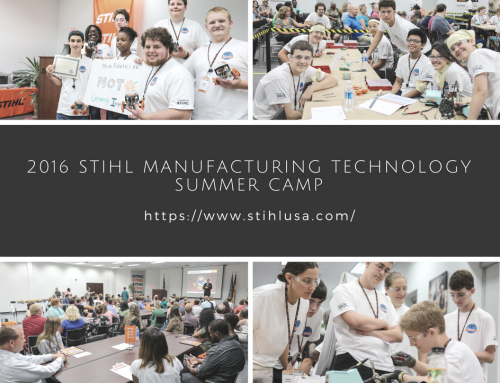 Congratulations to the STIHL Manufacturing Technology Summer Camp winners!