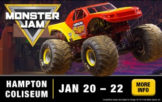 monster jam at the hampton coliseum