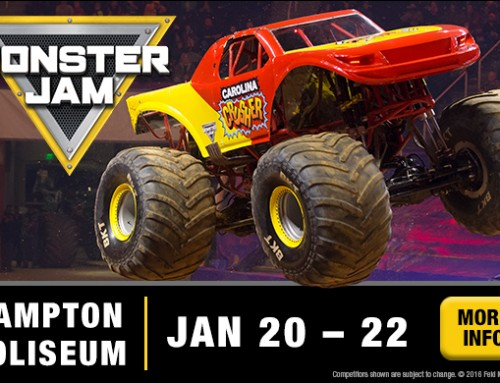 **CLOSED – TICKET GIVEAWAY – Monster Jam at the Hampton Coliseum