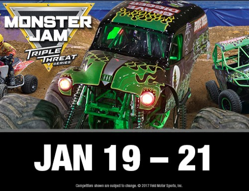 **CLOSED TICKET GIVEAWAY – Monster Jam Triple Threat Series at Hampton Coliseum