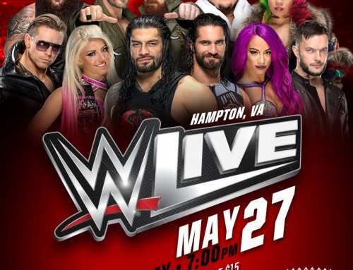 **CLOSED Ticket Giveaway – WWE LIVE Hampton Coliseum